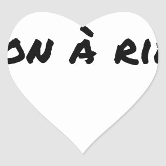 Sticker Cœur ARYEN, BON À RIEN - Jeux de mots - Francois Ville