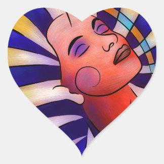 Sticker Cœur Astronella - étoile de beauté