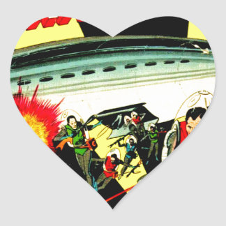 Sticker Cœur Attaque sur la planète Mars