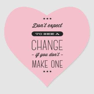 Sticker Cœur Attitude, succès, buts, rose de motivation de