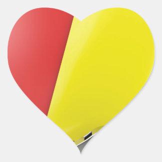 Sticker Cœur Attributs d'arbitre du football