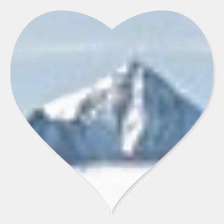 Sticker Cœur au-dessus des nuages