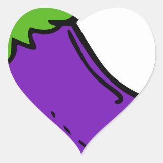 Sticker Cœur Aubergine