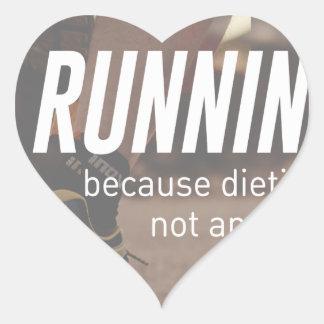 Sticker Cœur Aucuns coureurs courants de régime juste