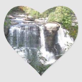 Sticker Cœur Automnes de Blackwater, la Virginie Occidentale