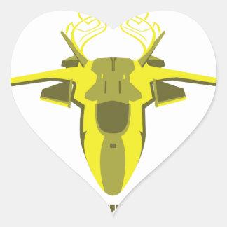Sticker Cœur Avion