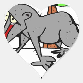 Sticker Cœur Babouin par Lorenzo