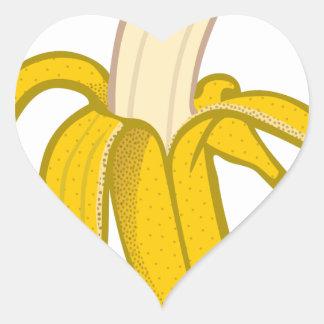 Sticker Cœur Banane épluchée