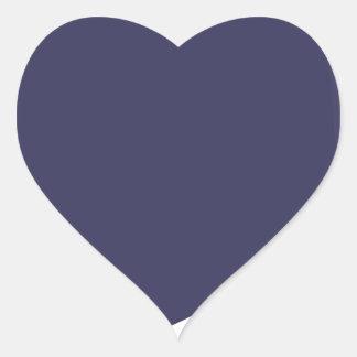 Sticker Cœur Bande dessinée d'aubergine