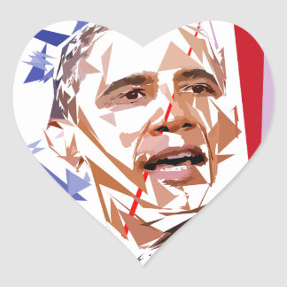 Sticker Cœur Barack Obama