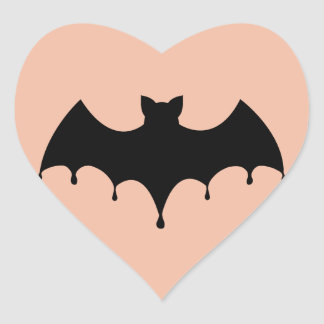 Sticker Cœur Batte noire