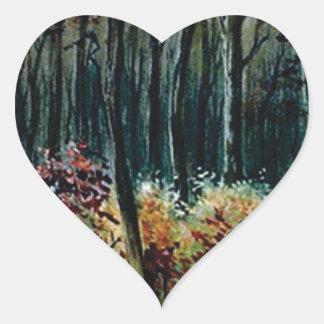 Sticker Cœur beauté dans les bois