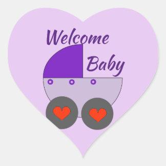 Sticker Cœur bébé bienvenu
