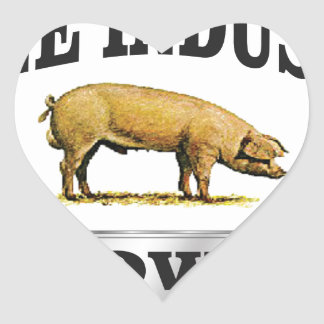 Sticker Cœur bébé d'industrie de porcs