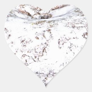 Sticker Cœur Beignet en poudre