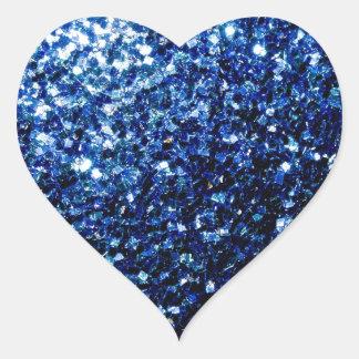 Sticker Cœur Belles étincelles bleu-foncé de scintillement