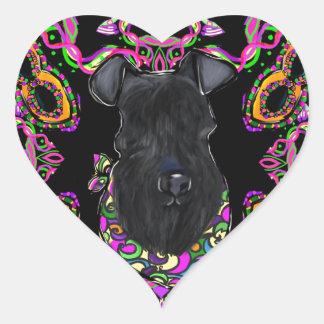 Sticker Cœur Bleu de Kerry Terrier