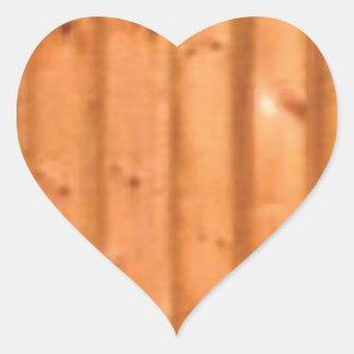 Sticker Cœur bois et défauts