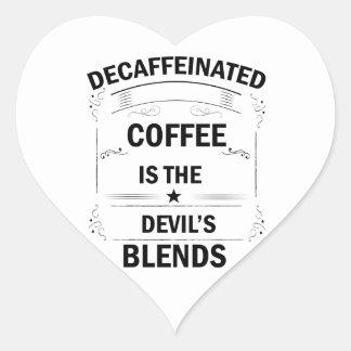 Sticker Cœur boisson drôle de café