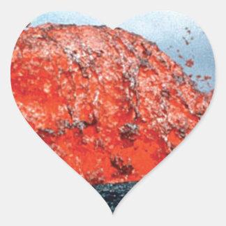 Sticker Cœur bosse d'écoulement de lave
