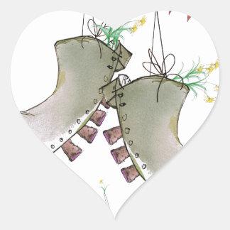 Sticker Cœur bottes de gallois