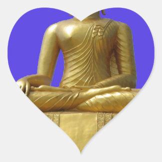 Sticker Cœur Bouddha