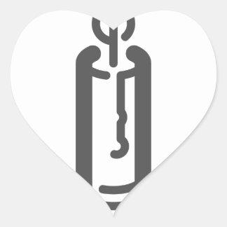 Sticker Cœur Bougie