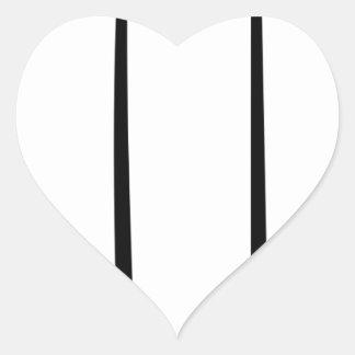 Sticker Cœur Bougie de Lit