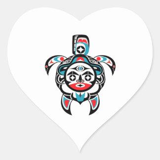 Sticker Cœur Boussole tribale