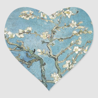 Sticker Cœur Branches d'amande de Vincent van Gogh | en fleur,