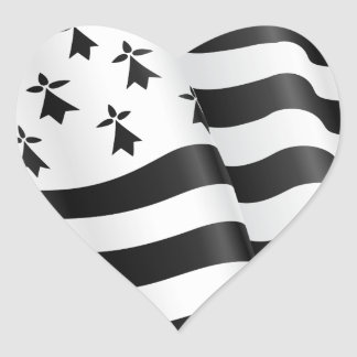Sticker Cœur Breton de Drapeau (drapeau breton)