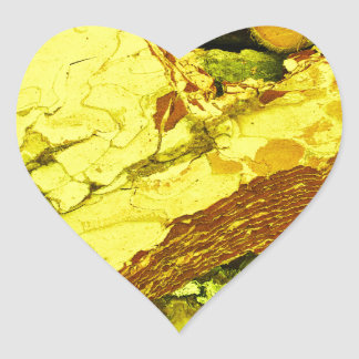 Sticker Cœur c?ur d'or
