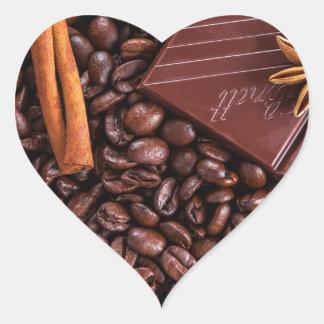 Sticker Cœur café
