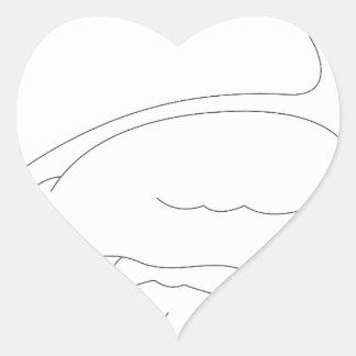 Sticker Cœur canard #3