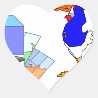 Sticker Cœur Canard dissonant