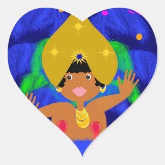 Sticker Cœur Carnaval Brazil