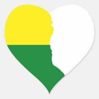 Sticker Cœur Carte de drapeau du Delaware LGBT
