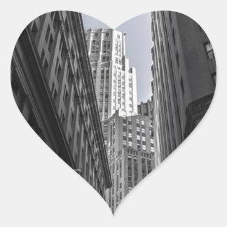 Sticker Cœur Centre Metropole de New York City de gratte-ciel