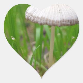 Sticker Cœur champignon de bébé