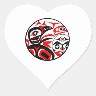 Sticker Cœur Chanson de Raven