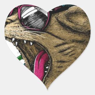 Sticker Cœur Chat d'écouteur