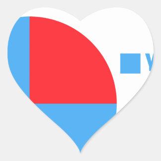 Sticker Cœur Chats d'amour