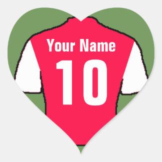 Sticker Cœur Chemise de sport rouge et blanche - choisissez le