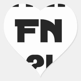 Sticker Cœur Chéri FN ?! - Jeux de Mots - Francois Ville