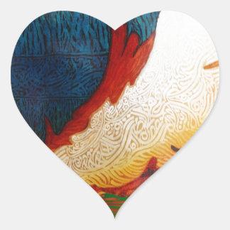 Sticker Cœur Cheval de vol 2