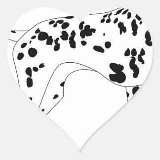 Sticker Cœur Chien de Dalmation