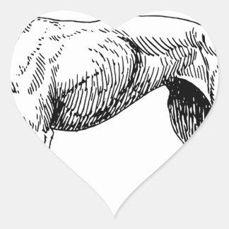 Sticker Cœur Chien de lévrier
