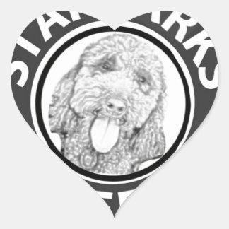 Sticker Cœur chien Starbucks