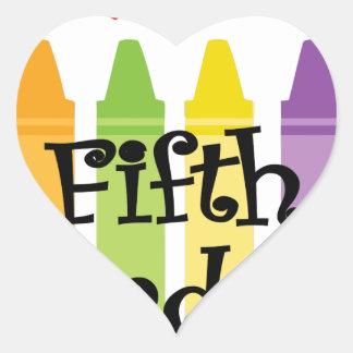 Sticker Cœur Cinquième catégorie teacher2