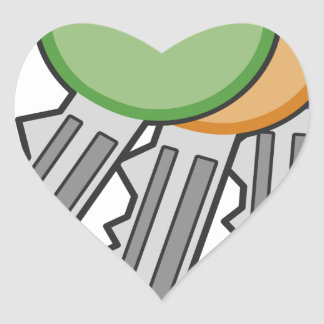 Sticker Cœur Clés